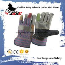 Segurança em couro de vaca Luvas de trabalho em couro de mobiliário industrial
