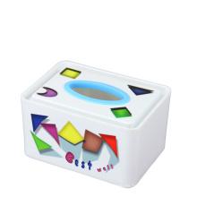 La manera imprimió la caja plástica del tejido (FF-5073-2-2)