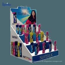 Augen-anziehender Gegenkosmetik-Speicher-Anzeigen-Halter, Spitzenverkaufs-gewölbtes Einkaufszentrum-Förderungs-kosmetische Anzeige