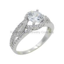 Elegante 925 Silber Schmuck, Messing Finger Ring (KR3036)