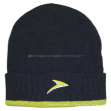 Sombrero acrílico del invierno de las señoras con el logotipo agradable del bordado