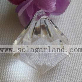 Acrylic Chunky Transparent Beads Diamond Mixed Necklaces Pendants