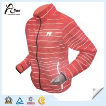 Laufende Jacken-reflektierende Gewebe-Frauen-Sport-Abnutzung für Großverkauf