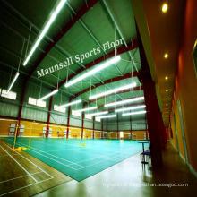 Plancher de sport de qualité supérieure pour la cour de badminton