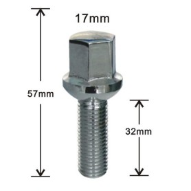 Heat treated ball seat wheel bolts