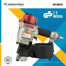 Rongpeng Clavadora de aire de productos nuevos (MCN55) Clavadora de bobinas Pallet Nailer Herramientas eléctricas