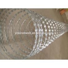 De alta calidad caliente sumergido galvanizado razor precio del alambre de púas