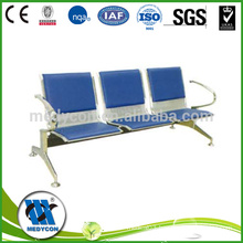 High quality leather cushion hospital furniture waiting chair