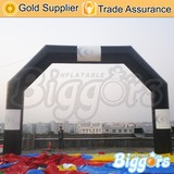 Advertising Black Inflatable Balloon Arch for Race Gate