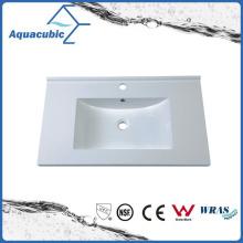 Sanitaryware Lavabo de la tabla de Polymarble de la tapa del lavabo Acb0809