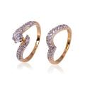 Xuping moda atacado novo design ouro-chapeado casal anéis