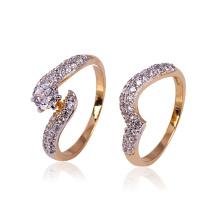 Xuping moda al por mayor nuevo diseño de oro plateado anillos de pareja