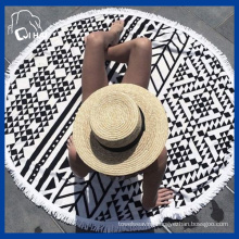 Cotton Yarn Circle Beach Towel (QHB989812)