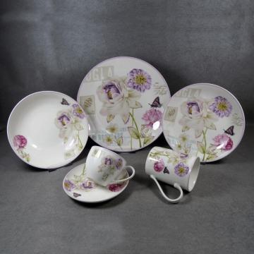 Ceramic Dinnerware Set White Plate Sets
