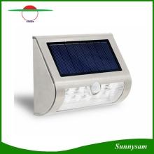 Stainless Steel Shell Solar Power PIR Motion Sensor 9 LED Wall Light Wireless Ultra Bright Spotlight Garden Lamp