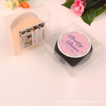 Bol de boulettes de cheveux avec boîte en PVC (BUN-39)