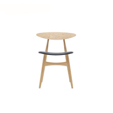 Ch33 Dining Stacking Chair With Upholstered Seat