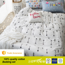 Home linen Cupid arrow twill cotton 3d printing kids bedding set