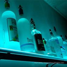 Wall Mounted Iuuminated Bottle Shelf, LED Lighted Liquor Display