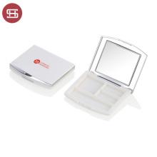 New Design Fancy White Pink Single Eyeshadow Case Custom Square Eye Shadow Case