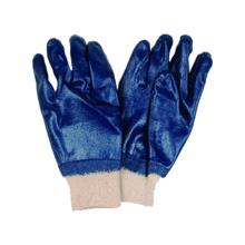 Jersey Liner Handschuh mit Nitril voll getaucht, Knit Handgelenk