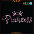 Princess with Crown iron on crystal letters