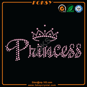 Customized for Big Crown Rhinestone Transfer Princess with Crown iron on crystal letters supply to Barbados Factories