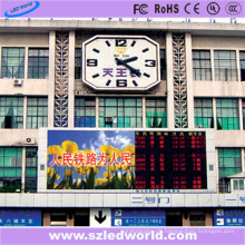 LED-Anzeigen-Zeichen-Brett P10 multi Farbim freien an der Station