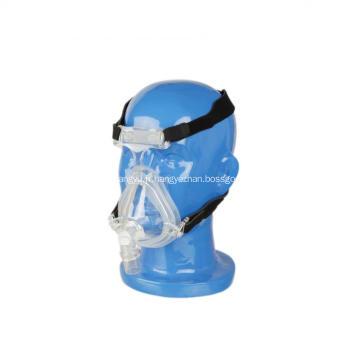 Masque complet de visage de CPAP de silicone de certificat avec la chapellerie