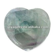 Corações de pedra do fluorite dos 40MM