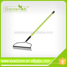 22-Tine Short Handle Leaf Rake Gardening Hoe