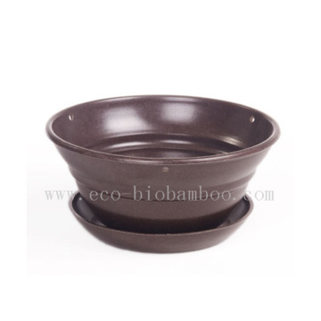 Biodegradable Bamboo Fiber Flower Pot (BC-F1005)