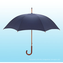 Auto Open Wooden Shaft Straight Umbrella (BD-14)