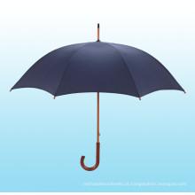 Auto Abra o guarda-chuva reto do eixo de madeira (BD-14)