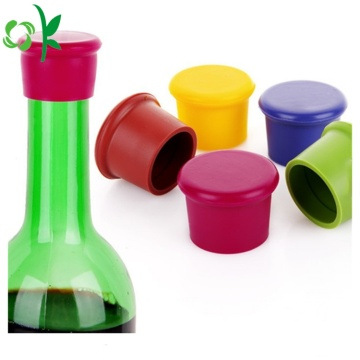 Pupular Menyesuaikan logo silikon Bottle Glass Bottle Stopper