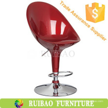 RBS-6002 Ruibao Bar Furniture Cheap ABS Plastic High Back Bar Stool Chair