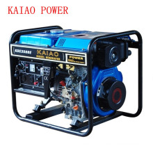 AC Single Phase 50Hz/2.8kw Key Start Open-Frame Diesel Generator for Shop and Outdoor Use