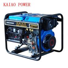 AC Gerador Diesel de Gerador Aberto de Fase Única 50Hz / 2.8kw Key Start para Loja e Uso ao Ar Livre