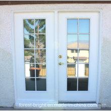 Nuevo diseño hermosa puerta de cristal de madera del balcón