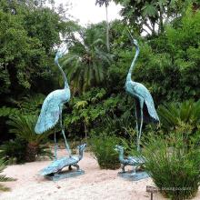 hochwertiges Innendekoration Bronze Kran Treten Schildkröte Skulptur zum Verkauf