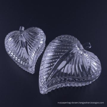 Hand Pressed Leaf Shaped Glass Jewelry Box