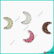 8mm Crystals Moon Slider Charm Beads for Bracelet Making (JP08)
