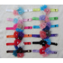 Baby Accessories Children, Girls Pearl Rhinestone Flower Hair Ornaments Hair Bands