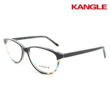 montures en acétate lunettes optiques motif floral optique double couche lunettes gravées verres en couches sculptées