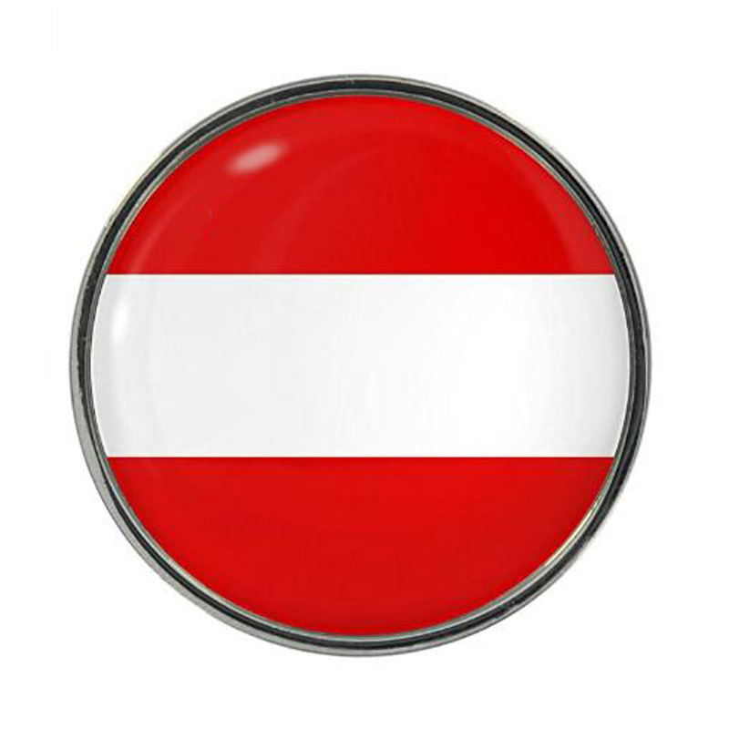 Austria Flag Design Pin Badge
