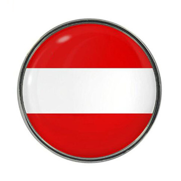 Austria Flag Design Lapel Pin Dengan Warna Enamel