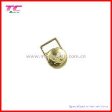 Debossed Brand Dekorative Metall Zipper Abzieher für Kleidungsstück