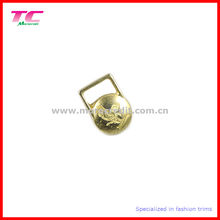 Debossed Brand Decorative Metal Zipper Puller for Garment