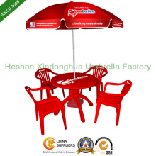 Logo personnalisé imprimé parasol promotionnel pour les meubles extérieurs (BU-0040)