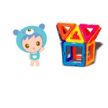 Educación preescolar juguetes bloques 3D combinación plástico magnético de palillo
